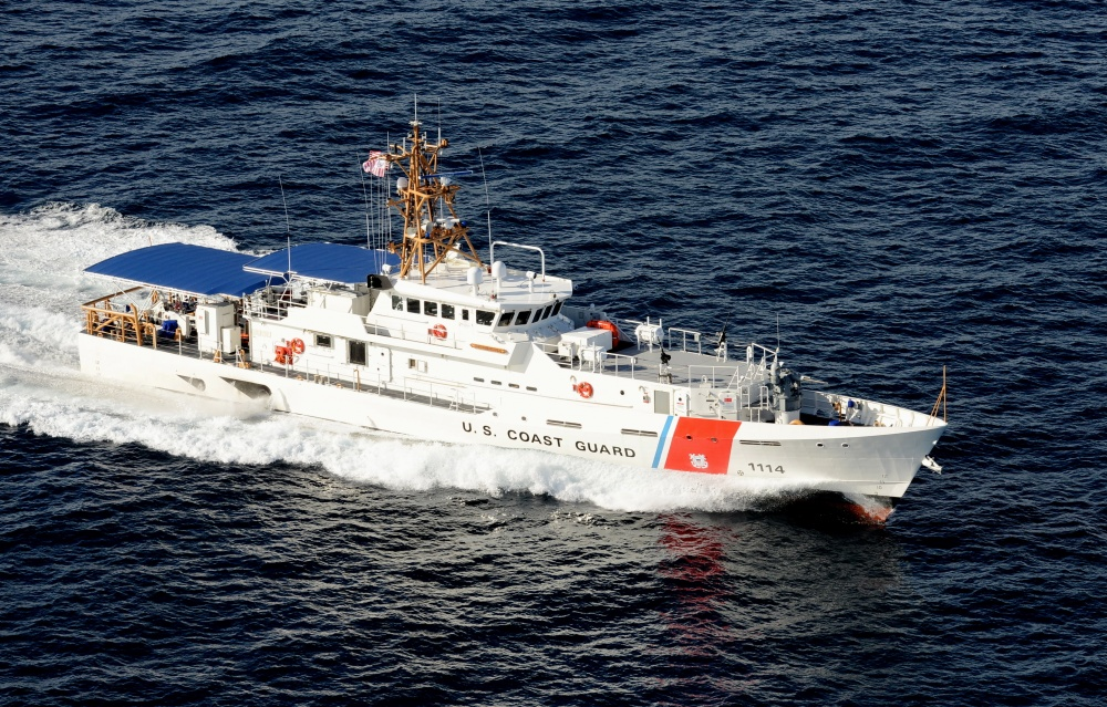 The Coast Guard Cutter Heriberto Hernandez gets underway in Key West, Fla., Sep. 10, 2015. The Heriberto Hernandez is the Coast Guard's 14th fast response cutter and the second FRC to be stationed in San Juan, Puerto Rico. U.S. Coast Guard photo by Petty Officer 2nd Class Mark Barney.